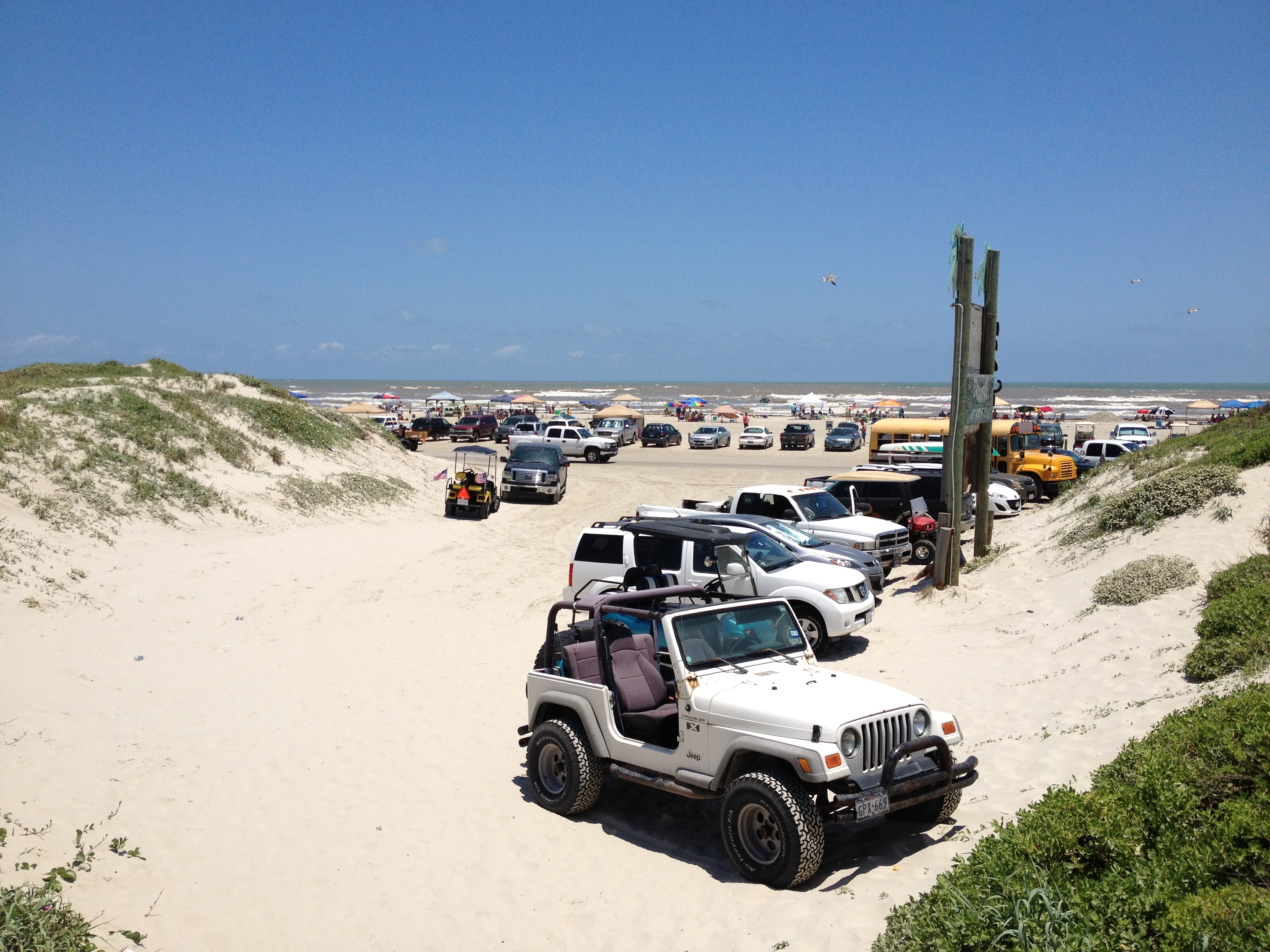 Parking on the Beach in Port Aransas