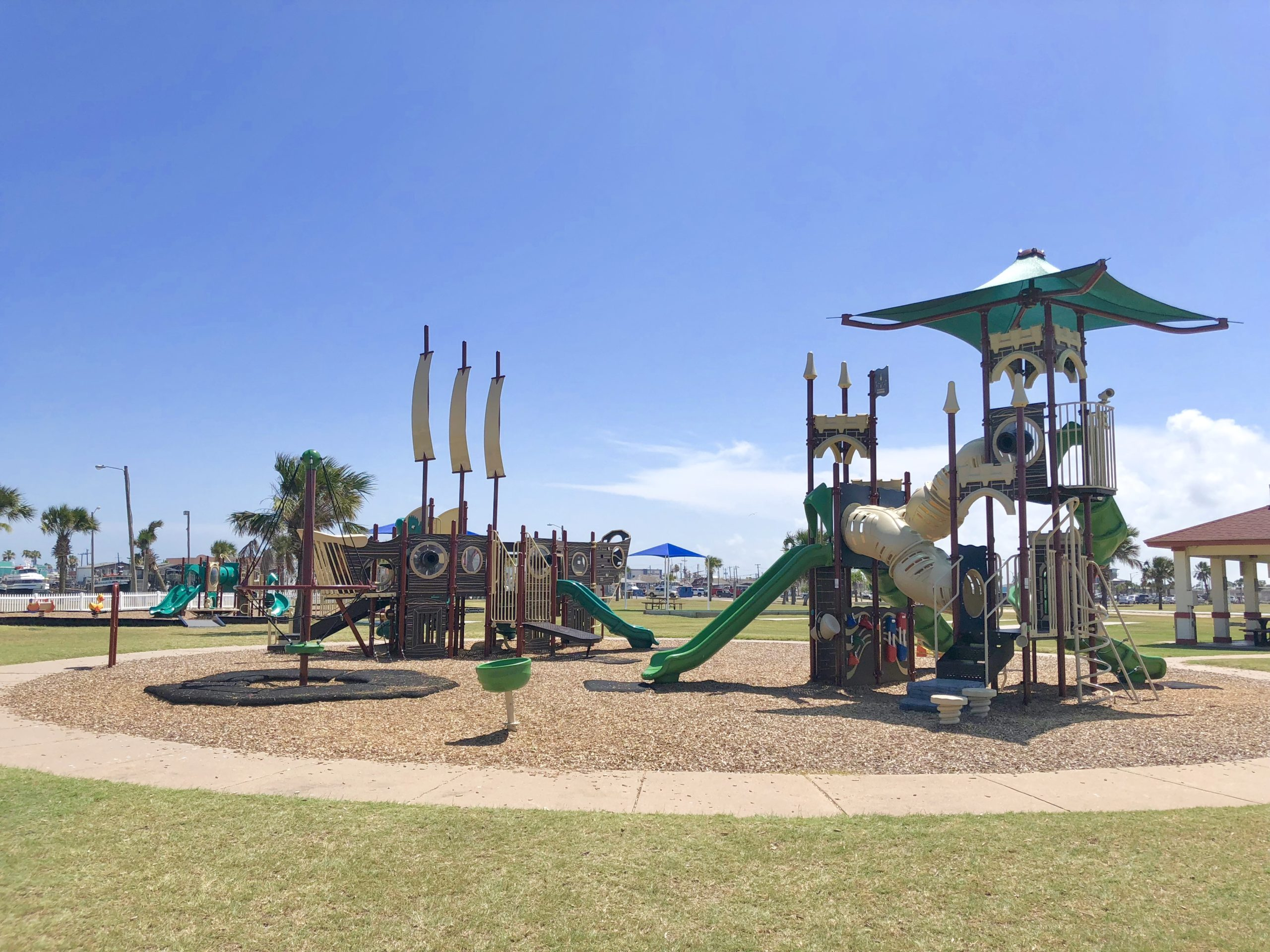 Playground at Roberts Point Park in Port Aransas | www.portaransastex.com