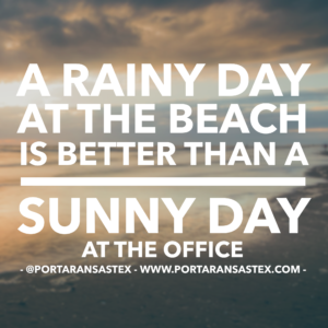 A rainy day at the beach in Port Aransas is better than a sunny day at the office. | www.portaransastex.com