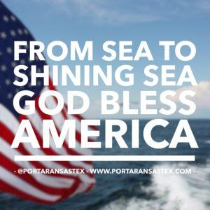From sea to shining sea, God bless America. | www.portaransastex.com