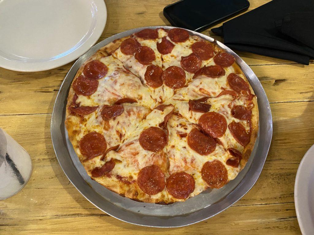 Pizza at Seafood & Spaghetti Works | Port Aransas Explorer