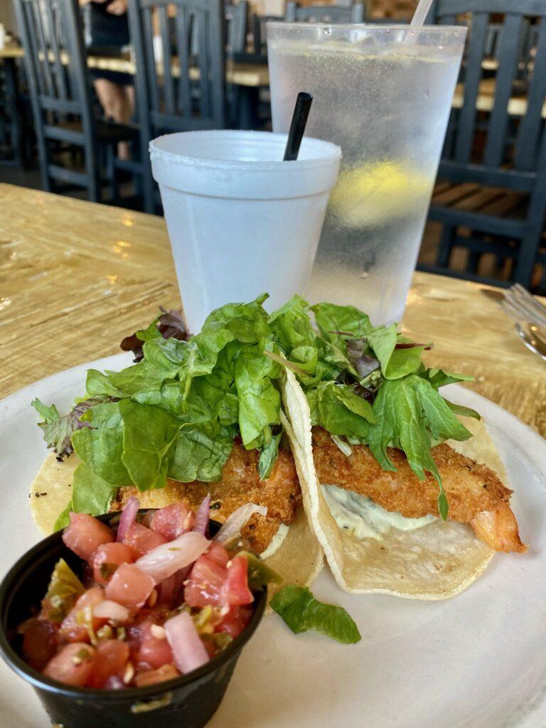 Shrimp Tacos at Seafood & Spaghetti Works   Port Aransas Explorer