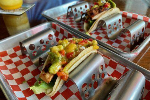 Chicken Fajita Tacos at Stingray's Taphouse & Grill   Port Aransas Explorer